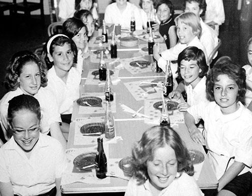 1970's girls dining hall