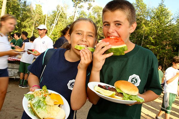 Brother and Sister having lunch together
