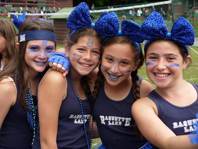 Friends in blue