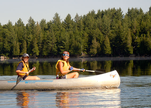 Girls on the Saranac Trip